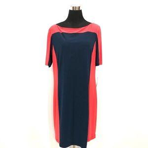 BNWT Evan Picone color block dress